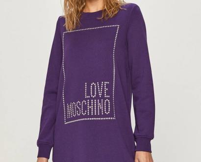 Fialové šaty Love Moschino
