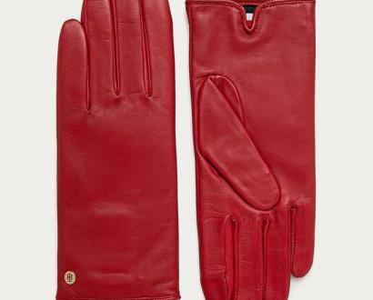 Červené rukavice tommy hilfiger