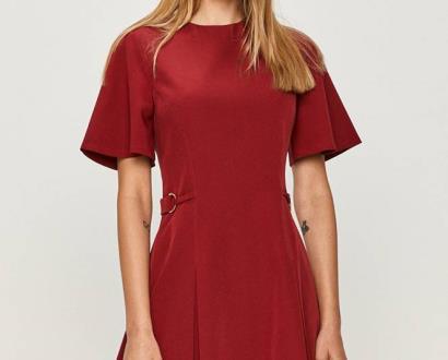Červené šaty Trussardi Jeans