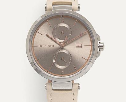 Béžové hodinky tommy hilfiger