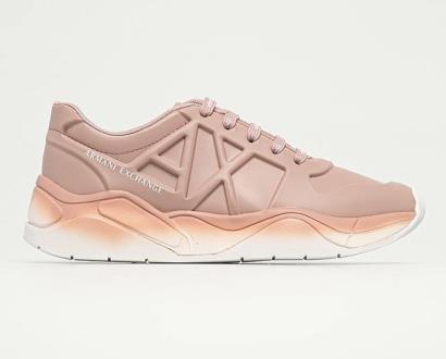 Růžové boty Armani Exchange