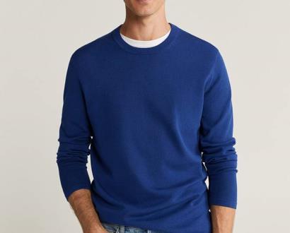 Modrý svetr Mango Man