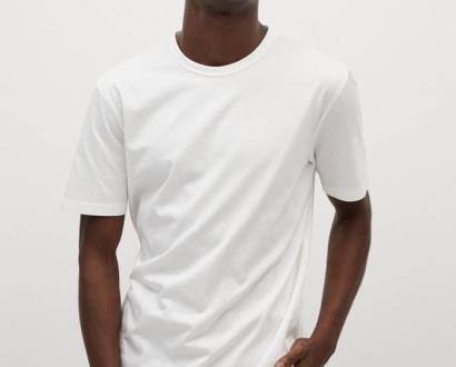 Bílé tričko Mango Man
