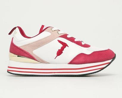Červené boty Trussardi Jeans