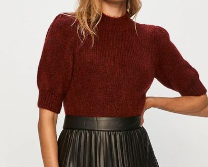 Burgundský svetr vero moda