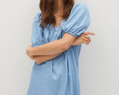 Fialové šaty Mango