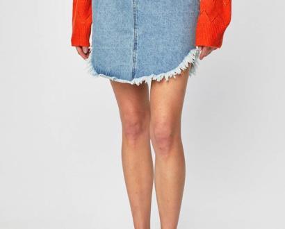 Modrá sukně Glamorous