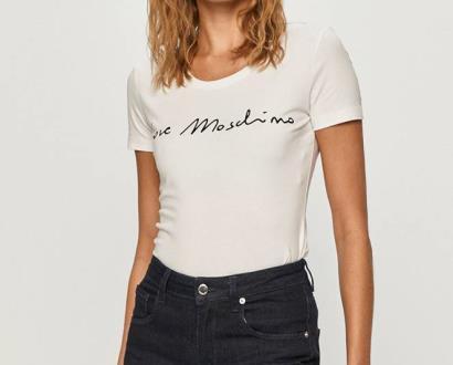 Bílý top Love Moschino