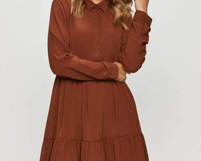Burgundské šaty jacqueline de yong