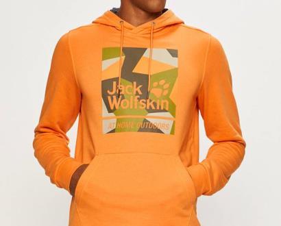 Oranžová mikina Jack Wolfskin