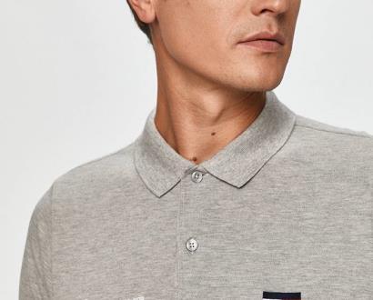 Šedé tričko Tommy Hilfiger Tailored