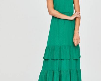 Zelené šaty vila