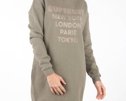 Hnědé šaty superdry