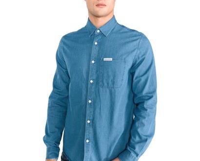 Modrá košile Calvin Klein