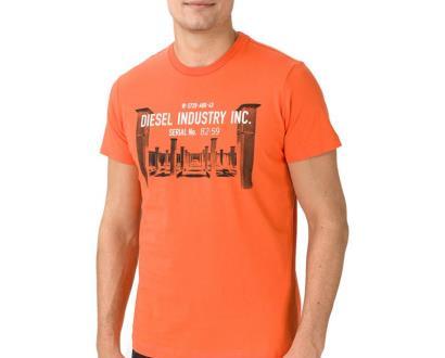 Oranžové tričko Diesel