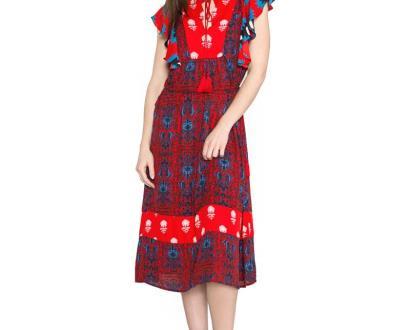 Červené šaty desigual