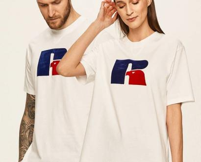 Bílé tričko Russell Athletic