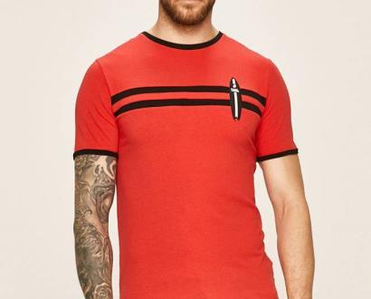 Červené tričko karl lagerfeld