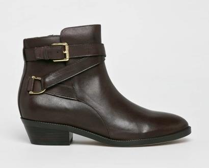 Hnědé boty lauren ralph lauren