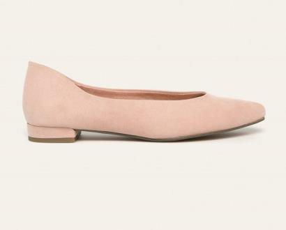 Růžové baleríny Marco Tozzi