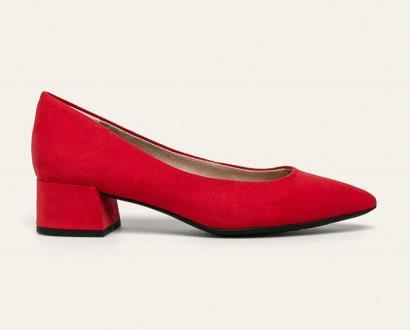 Červené boty Marco Tozzi
