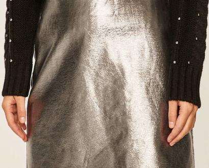 Stříbrná sukně only