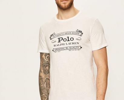 Bílé tričko Polo Ralph Lauren