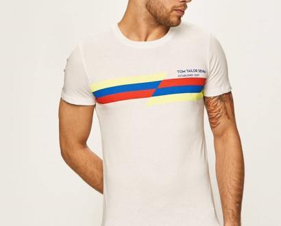 Bílé tričko tom tailor denim