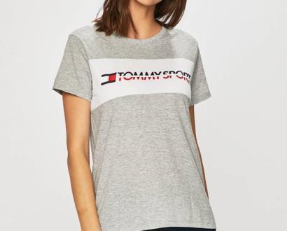 Šedý top Tommy Sport