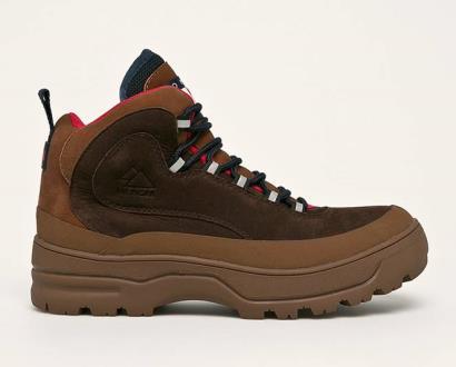 Hnědé boty Tommy Jeans