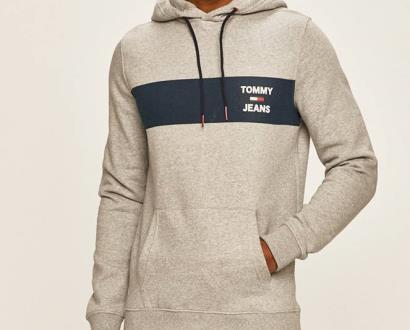 Šedá mikina Tommy Jeans