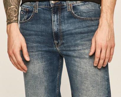Modré kraťasy Tommy Jeans