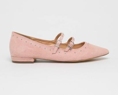 Růžové baleríny ANSWEAR