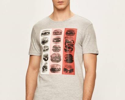 Šedé tričko blend