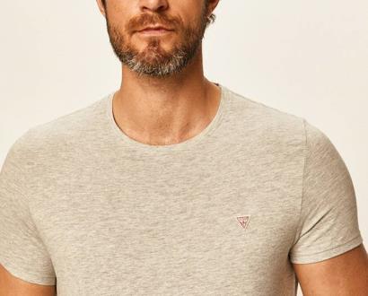 Šedé tričko Guess Jeans