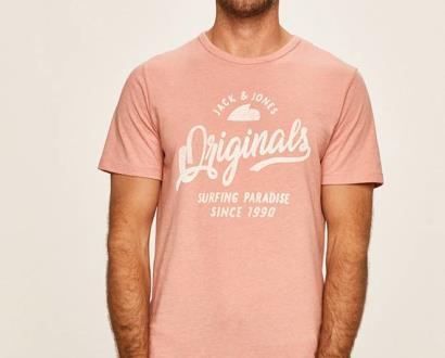 Růžové tričko jack & jones