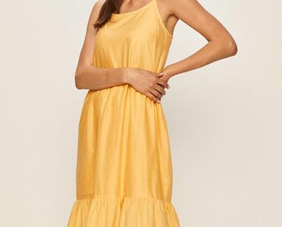 Žluté šaty vero moda