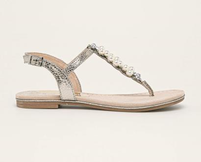 Stříbrné boty Marco Tozzi