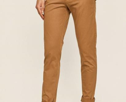 Béžové kalhoty Tommy Jeans