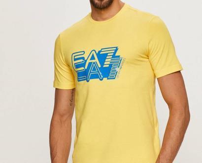 Žluté tričko EA7 Emporio Armani