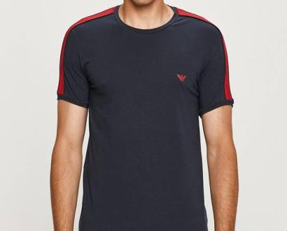 Modré tričko Emporio Armani