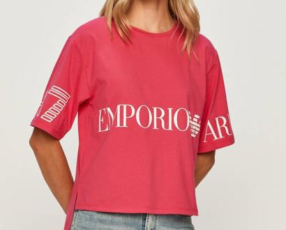 Růžový top EA7 Emporio Armani