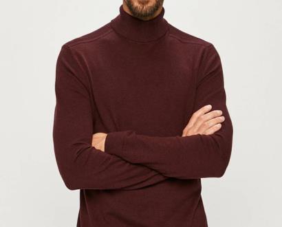 Burgundský svetr SELECTED