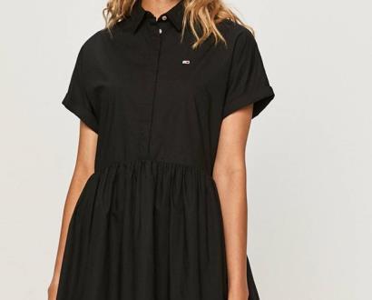Černé šaty Tommy Jeans