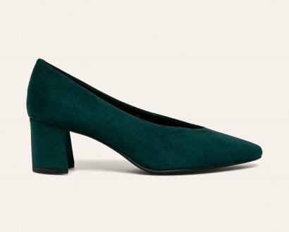 Zelené boty Marco Tozzi