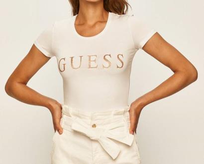 Bílý top Guess Jeans