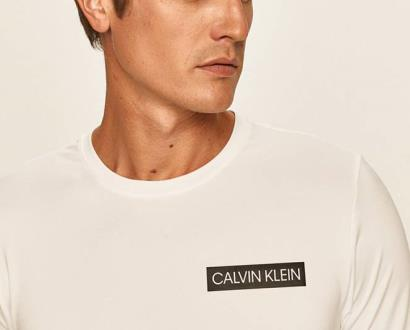 Bílé tričko Calvin Klein Performance