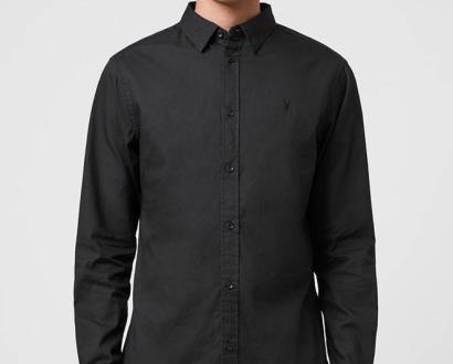 Černá košile AllSaints