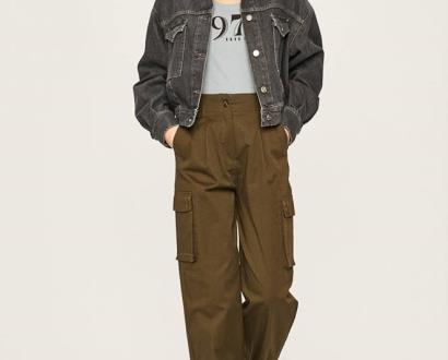 Zelené kalhoty pepe jeans